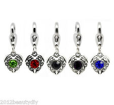 Wholesale DIY Jewelry Mixed Heart Clip On Charms Fit Chain Bracelet26x10mm