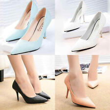 Sexy Women High Heel Stilettos Pointy Toe Party Sexy Wedding Pumps Leather Shoes