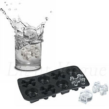 Skull Silicone Tray Mould Ice Molds Mold Cube Bar Party Jelly Maker Bar Nice 63f