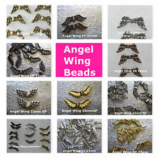 Angel Wing Beads  15mm 22mm 23mm Copper Gold Silver Plated Beads