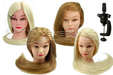 "26"" 70%-100% Real Hair/SyntheticTraining Head Mannequin Head Manikin Doll Clamp"