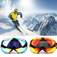 Pro PTU Frame Snowboard Ski Goggles Anti-Fog Double Lens Eye Protection Glasses