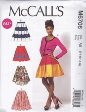 McCall's Sewing Pattern Misses' Skirts & Petticoat Size 6 - 22 M6706