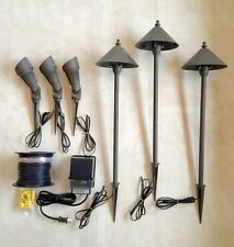 LED PHOENIX PATH SPOT LIGHT LOW VOLTAGE OUTDOOR LANDSCAPE LIGHTING KIT FREE SHIP
