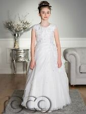 White Communion Dress, Girls Holy Communion Dress, Girls Dresses, White Dress