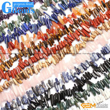 """Natural 15-20mm Assorted Stones Freeform Stick Beads For Jewellery Making 15"""""""