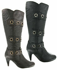 Gluv Soft Leather Mid Calf Womens Comfort Boots Zip Fasten UK 4-8