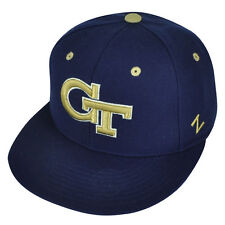 NCAA Georgia Tech Yellow Jackets Zephyr Flat Bill Hat Cap Fitted Size Navy Blue
