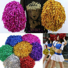 2Pcs Pom Poms (Pair) Cheerleader Cheerleading Cheer Pom Pom Dance Party Decor WB