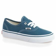 Vans Classic Authentic Navy White Kids Trainers