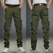 Mens Tactical Overalls Pants Pocket Military Leisure Cargo Combat Trousers New
