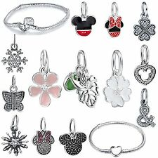 Popular New Necklace Pendants 925 Silver Charms For Brand Bead Bracelet Jewelry