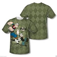 T-Shirts Sizes  S-3XL Mens Popeye Argyle Punch Sublimation Vibrant Colors TShirt