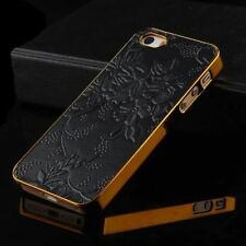 Luxury Leather PU Chrome Hard Back Cell Case Cover For iPhone 5 5s 6 6s 6 Plus