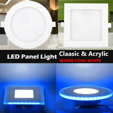 10W/15W/20W Power LED Recessed Ceiling Panel DownLight Lamp Warm Cool White+Blue