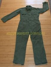 USGI Military OD Cotton COVERALLS Zipper, Velcro, or Button Many Sizes GOOD COND