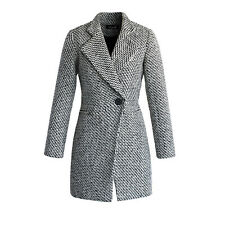 wc27 Celebrity Fashion Lookbook Trendy Winter Houndstooth Cocoon Wool Coat