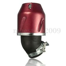 Red 35mm Intake Bullet Air Filter Cleaner Motorcycle Scooter ATV Pit Dirt Bike