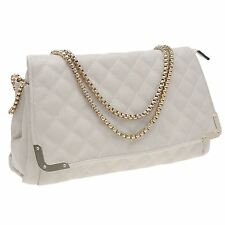 Rock and Rags Womens Ladies Quilted Bag Clutch Purse Handbag Chain Envelope