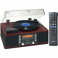 TEAC CD Recorder Cassette Turntable WALNUT