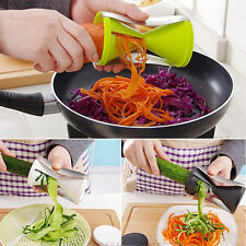 Food Vegetable Fruits Spiral Shred Process Cutter Slicer Julienne Kitchen Tool