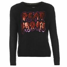 Iron Fist Womens Ladies Jumper Crew Neck Long Sleeve Knit Top Clothing