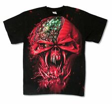Iron Maiden Final Frontier Face Ed tour All Over Mens Black T Shirt
