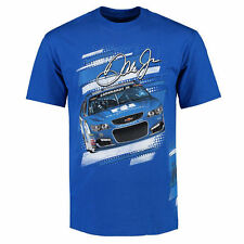 Dale Earnhardt Jr. Checkered Flag Slingshot T-Shirt - Royal - NASCAR