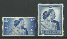 1948 Set of 2 George VI Silver Wedding Values, Unmounted Mint.