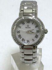Women's Bulova 96R159 Classic Stainless Steel Diamond-Accented MOP Dial Watch