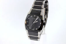 Men's Wittnauer 12D005 Stainless Steel & Black Ceramic Diamond Accent Watch