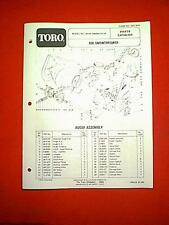 TORO 826 TWO STAGE SNOWTHROWER SNOWBLOWER MODEL 38150-3000001 & UP PARTS MANUAL