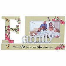 Pretty Reflections Word Photo Picture Frame - Family  NEW Ideal Gift  25672