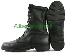 US Military LEATHER PANAMA SOLE Combat Boots BLACK Made in USA Many Sizes MINT