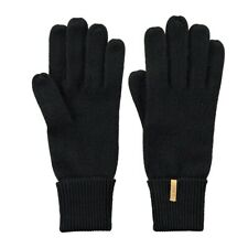 Barts Fine Knitted Glove Gloves Unisex Knitted black simple cuddly