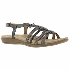 Earth Spirit Scotsdale Womens Pewter Grey Leather Sandals