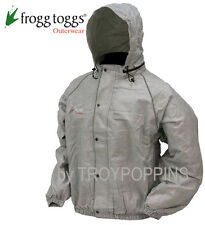 FROGG TOGGS RAIN GEAR-FT63132-07 GRAY JACKET REFLECTIVE ROAD TOAD MOTORCYCLE WET