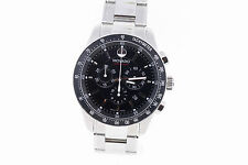 Men's Movado 2600094 SERIES 800 Chronograph Black Dial Stainless Steel Watch