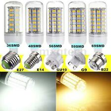 E27/E14/B22/GU10/G9 7W/9W/10W/12W/15W/18W LED 5730 SMD Corn Light Bulb Lamp 220V