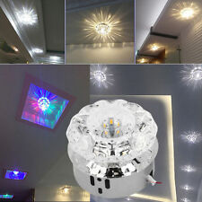 Romantic Crystal LED Ceiling Light Lighting Chandelier Fixtures Bulb 85-245V HK