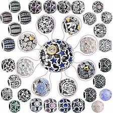 Fashion 925 Silver Charms Fine European Bead Girl Diy Jewelry Fit Bracelet Chain