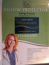 BED BUG PROTECTOR-STANDARD-PILLOW--STOPS  DUSTMITES ALLERGEN WATERPROOF-ZIPPERED