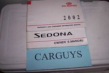 2002 KIA SEDONA  OWNERS MANUAL NO  CASE
