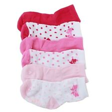Robeez Mini Infant Girl's 6-Pairs Playful Pink Skid-Proof Socks