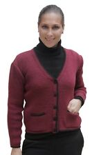 Womens Knitted Alpaca Wool Cardigan Bolero Sweater Size M