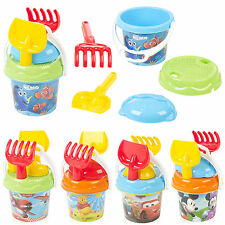 Disney Sand Bucket & Spade Kids Seaside Play Water Beach Toys Tools Set Moulds