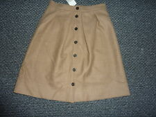 J CREW NWT 100% wool A line button down skirt US 2 uk 6-8  (125)