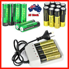 AU 2/4 /10 PCS BORUIT 18650 3.7V 4000mAh Li-ion Rechargeable Battery&Charger Set