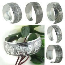 Women Fashion Jewelry Vintage Tibetan Tibet Silver Totem Bangle Cuff Bracelet