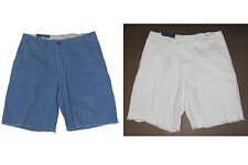 Polo Ralph Lauren Mens Blue White Cotton Distressed Sun Faded Casual Shorts New